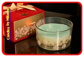 GRÜNE Kerze mit 3 Dochten in einer luxuriösen Geschenkbox