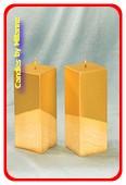 Kwadrant kaars, GOUD, hoogte 16 cm