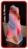 Turm Kerze, Typ Paris, höhe: 21 cm