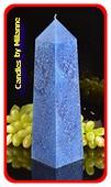 Obelisk Kaars XXL, Polyimico-BLAUW hoogte: 34cm