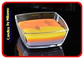 TRI-COLORE + Kerze aus Holzdocht in einer quadratischen Schü