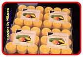 36 stuks Mango - Papaya theelichten  geurkaarsjes 3,5x2,5 cm