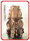 Kaars, handgesneden, 22 cm 51011 (zeer exclusief)