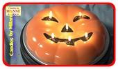 Halloween Special: Mega Pompoen kaars met 6 pitten, 23 cm