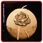 Goldene Rose, kugelkerze, H: 10 cm