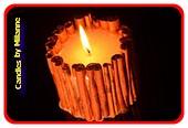Zimt Kerze, Medium Weiss