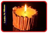 Zimt Kerze, Klein, Weiss