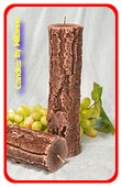 Boomstam Kaars, Smal-hoog - Ø 7cm  H 26 cm