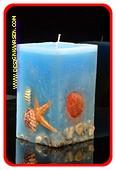 Meer & Wasser Kerze BLAU