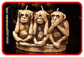 Affen Kerze mit 3 Dochten