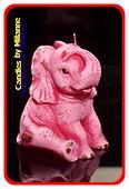 Elefant Kerze PINK H: 11 cm