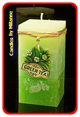 Grüne Tee, Quadra, H: 14 cm