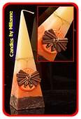Sinaasappel-Kaneel, Piramide kaars, 33 cm