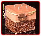 Kaffeekerze mit 4 Dochten, BRAUN xxl