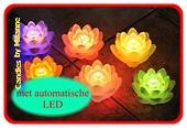 Leli kaars met LED,  Ø 13 cm, H: 9 cm