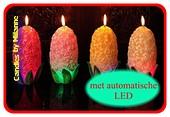 Hyazinthe Kerze mit LED, H: 18 cm
