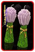 Lavendel Kerze, H:23 cm