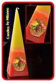 Citrus Fruit kaars, Piramide, 24 cm