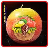 Gemengd Fruit, Kogel kaars, 10 cm