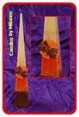 Sinaasappel-Kaneel, Piramide kaars, 50 cm