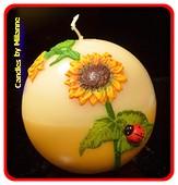 Sonne Blume, Kugel, 10 cm
