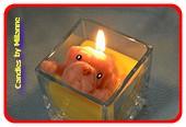 Candles by Milanne, Puppy in de Vanille vla kaars, H: 12 cm