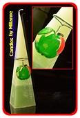 Appel, Piramide kaars, 33 cm