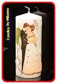 Huwelijkskaars, XXL, H: 22 cm