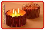 Zimt Kerze, Gross mit 3 Dochten