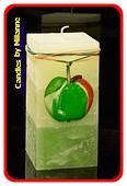 Apfelkerze, Quadra, H: 14 cm