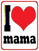 I LOVE MAMA Geschenkkaartje