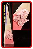 Geburts-Kerze Mädchen PINK, H: 30 cm