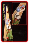 Geburts-Kerze Storch, CREME, H: 30 cm