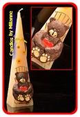 Bär, Pyramide, CREME, H: 30 cm
