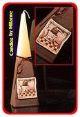 Koffiemolen, Piramide kaars, H: 24 cm
