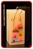 Samenwonen Kaars, CREME, vierkant H: 15 cm