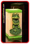 Frosch Kerze, H: 15 cm