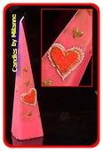 Hertz Pyramide Kerze, PINK/ROT, H: 30 cm