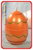 Oster Eier Kerze XXL, ORANGE