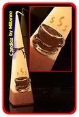 Kopje Koffie, Piramide kaars, H: 24 cm