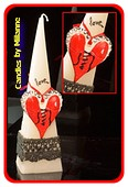 Love kaars, Piramide 24 cm