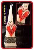 Love kaars, Piramide 30 cm