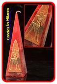 Erotische Kerze, Pyramide 24 cm