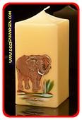 Elefant Kerze, H: 10,5 cm