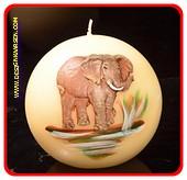 Elephant kugel Kerze, 10 cm