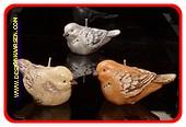 Vogel Kerze (3 Stuck) 6x12x17 cm